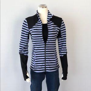 Like New Lululemon Jacket Size 8 Black/ Periwinkle